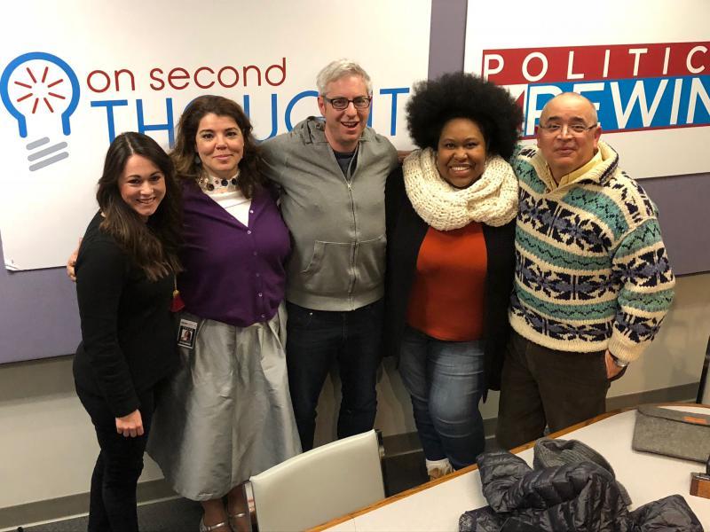 The Breakroom panel (l to r): Natalie Dale, host Celeste Headlee,Stefan Turkheimer, Kalena Boller, and Hector Fernandez.