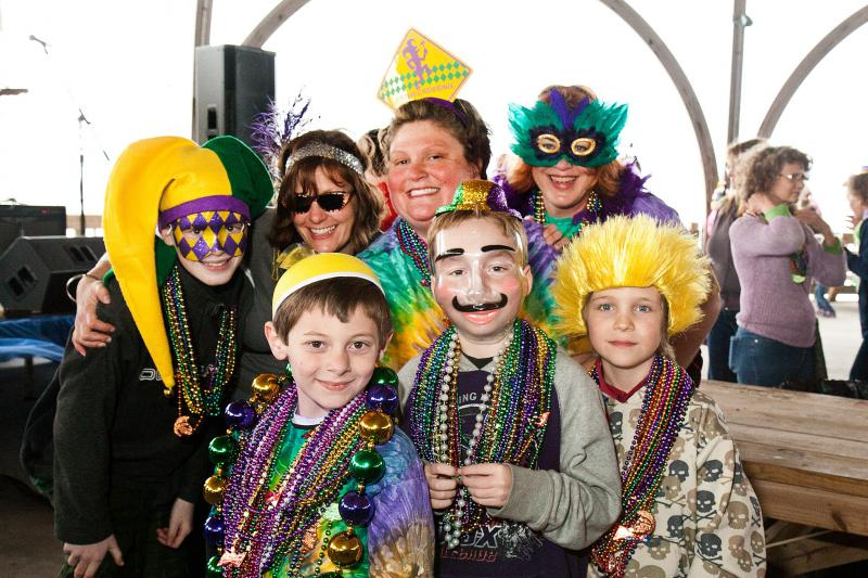 Tybee Island will break out the costumes and masks to celebrate Mardi Gras on Saturday.