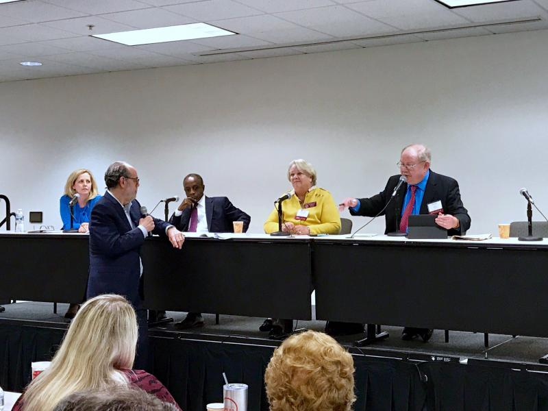From left to right: Loretta Lepore, Michael Thurmond, Mary Margaret Oliver, and Jim Galloway.