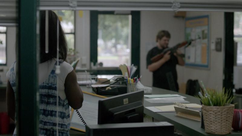 """A scene from """"DeKalb Elementary,"""" which was inspired by a school shooting at Decatur's Ronald E. McNair Discovery Learning Academy."""