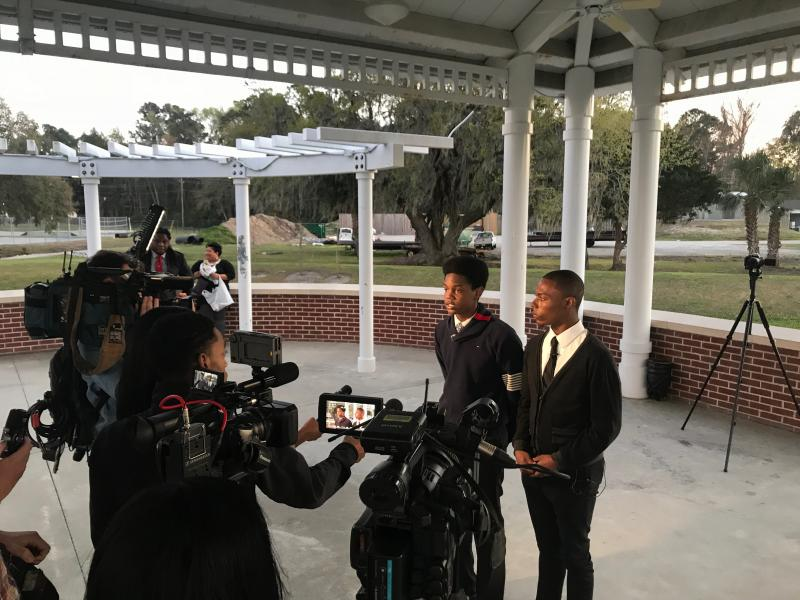 In March Savannah State students Schonn Franklin and David Cunningham organized a vigil and media event to call attnention to gun violence on campus.
