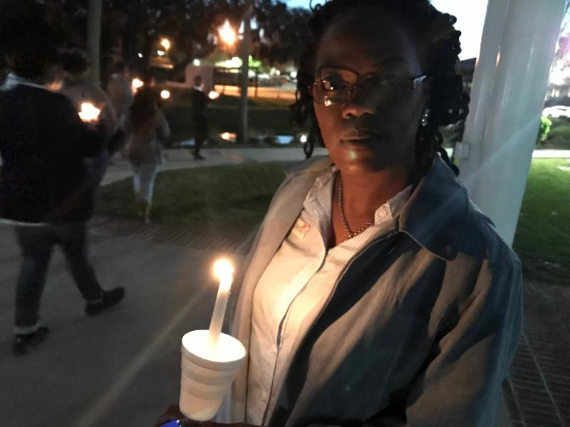 Beverly Trotter lives in Savannah. She attended the campus vigil in March. She said she started participating in protests against gun violence after a family member was shot to death in Macon. He was 18.