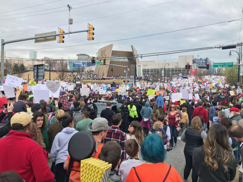 An estimated 30,000 people turned out for Atlanta's March For Our Lives.