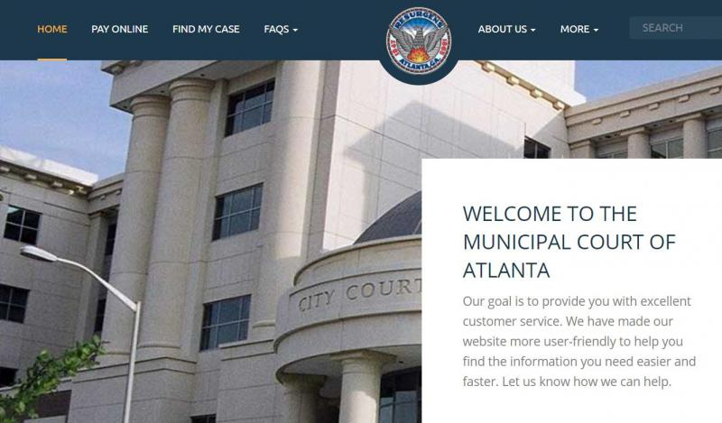 The court's website is online, but it's payment portal is out of commission.