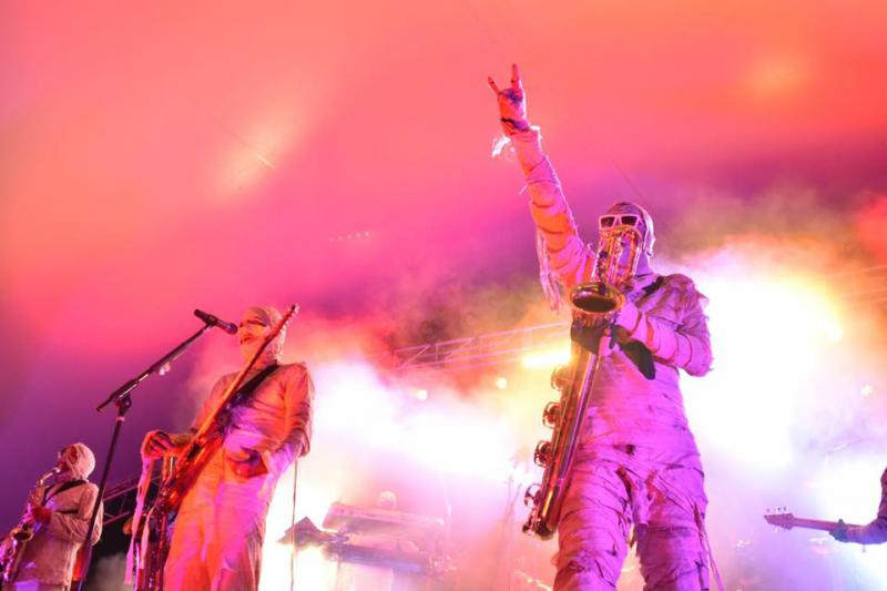The mysterious and funky Here Come The Mummies will play the Stage on Bay Thursday