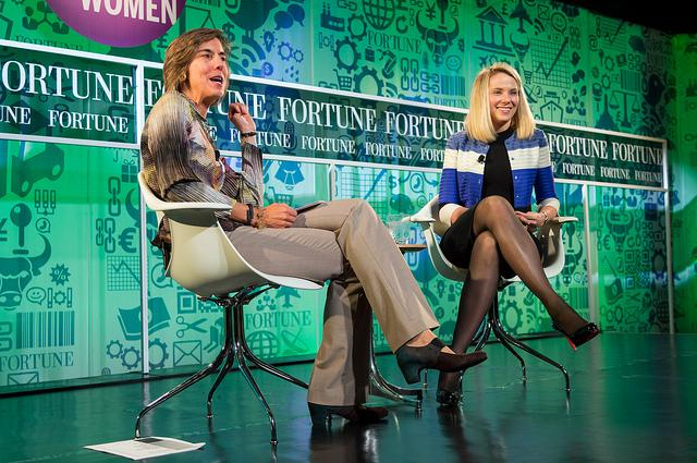 Pattie Sellers of Fortune interviews President and CEO of Yahoo! Marissa Mayer in 2013.