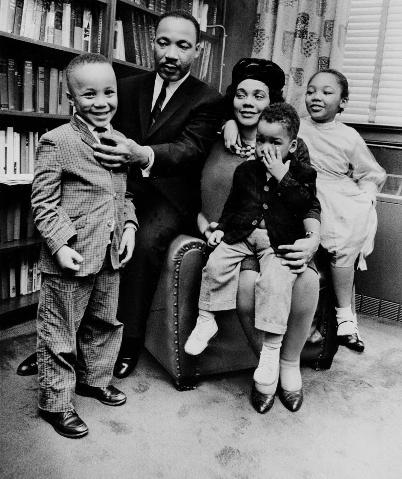 MLK and his family in Atlanta
