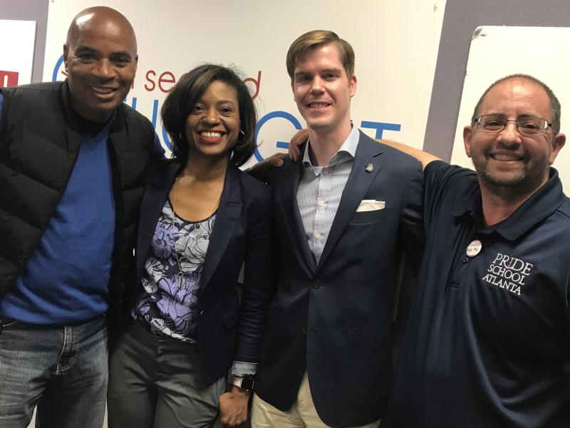 The Breakroom gang for Friday, April 20, 2018: host Tony Harris, Tomika Depriest, Jake Evans and Christian Zsilavetz. Not pictured: Kalena Boller