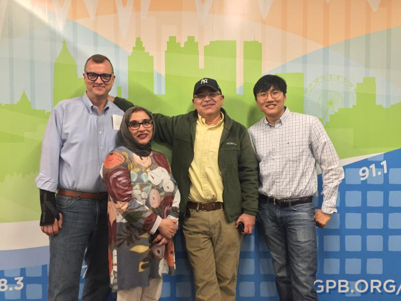 Steve Brown (left), Soumaya Khalifa, Hector Fernandez and HB Cho joined On Second Thought for the Breakroom on Friday, April 27.