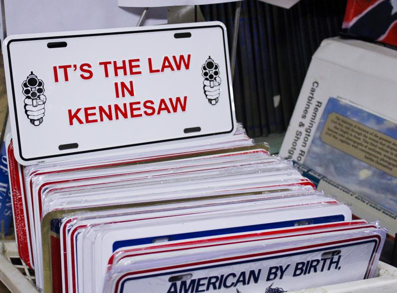 Since 1982, the city of Kennesaw, Georgia, has required heads of household to own a gun.
