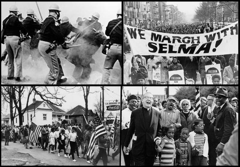 Civil Rights Movement protests in Selma, Alabama.