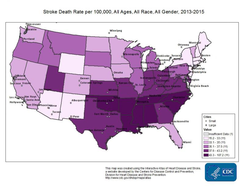 Southerners face a higher stroke risk than any other general population in the United States.