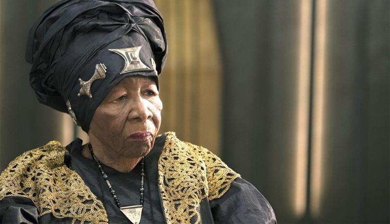 "Dorothy Steel, 92, plays a merchant tribal elder in superhero film ""Black Panther."""