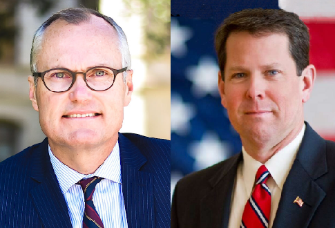 Casey Casey, left. Brian Kemp, right.