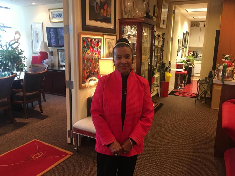 Xernona Clayton at her office in Atlanta, Georgia.