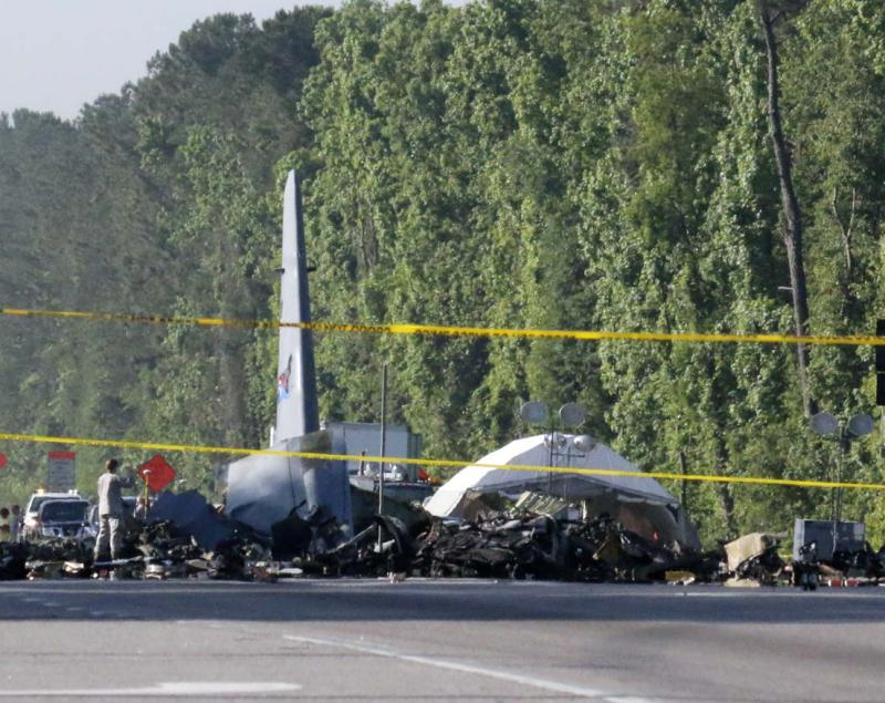 An Air National Guard C-130 crashed Wednesday in Savannah.
