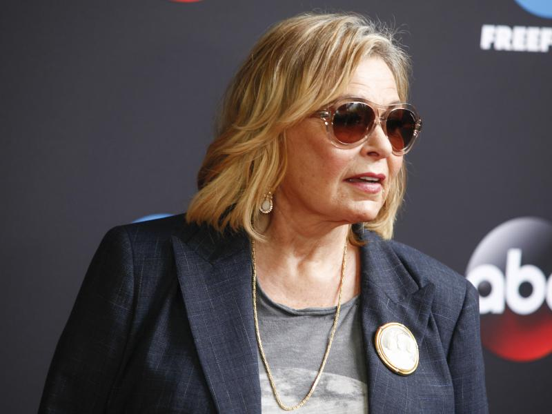 Roseanne Barr attends the Disney/ABC/Freeform 2018 Upfront Party at Tavern on the Green on Tuesday, May 15, 2018, in New York.