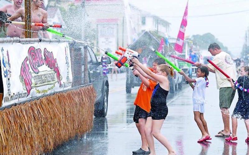 A water fight will take over Tybee Island on Friday during the Beach Bum Parade