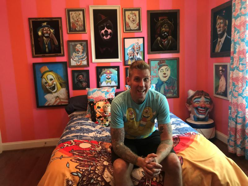 Mastodon drummer and vocalist Brann Dailor at his home in Atlanta.