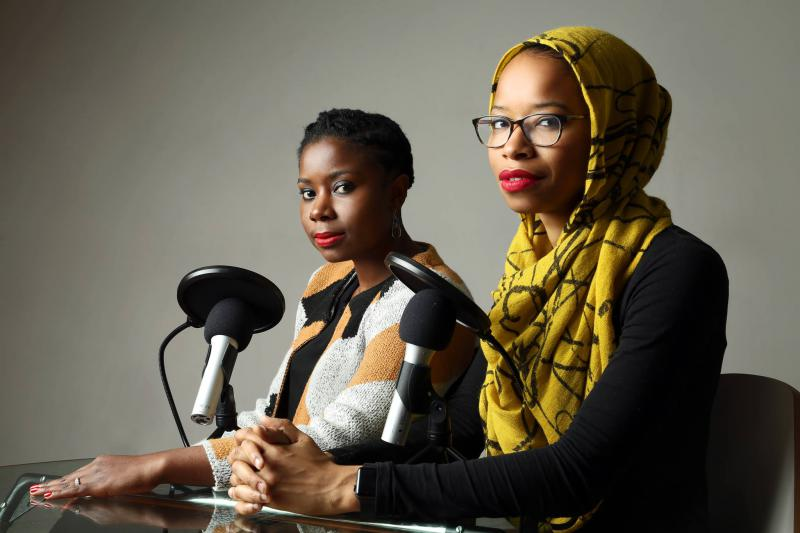 Podcast hosts Ikhlas Saleem and Makkah Ali are trying to change America's perception of Muslims.