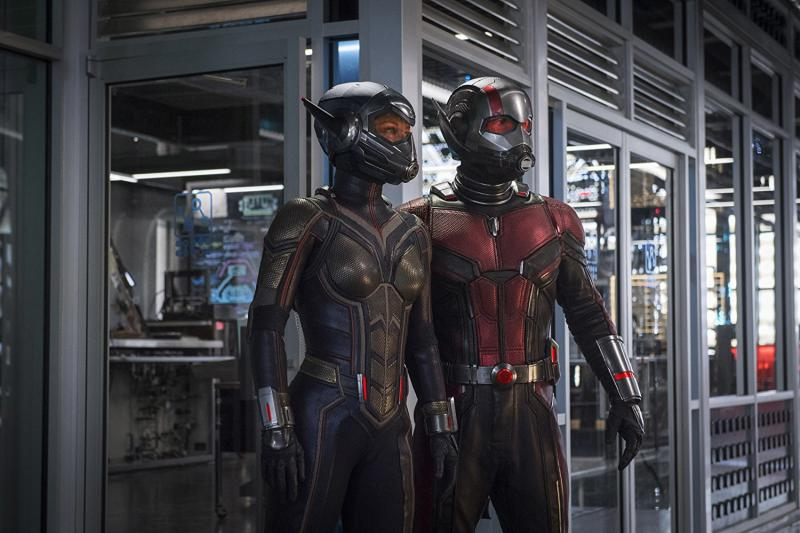 """""""Ant-Man and the Wasp"""" stars Evangeline Lily (left) as The Wasp and Paul Rudd as Ant-Man."""