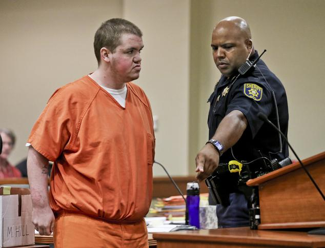 Michael Brandon Hill stands trial after an attempted school shooting in DeKalb in 2013