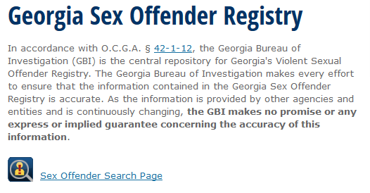 Sex affender locator in georgia