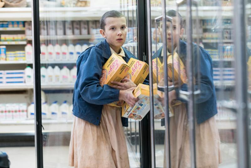 "Millie Bobby Brown, who plays Eleven on ""Stranger Things,"" is one of countless actors whom Curtis Bonds Baker has photographed on sets in Georgia."