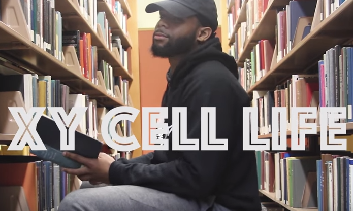 A still from Morehouse College student Julien Turner's viral music video on meiosis and mitosis.