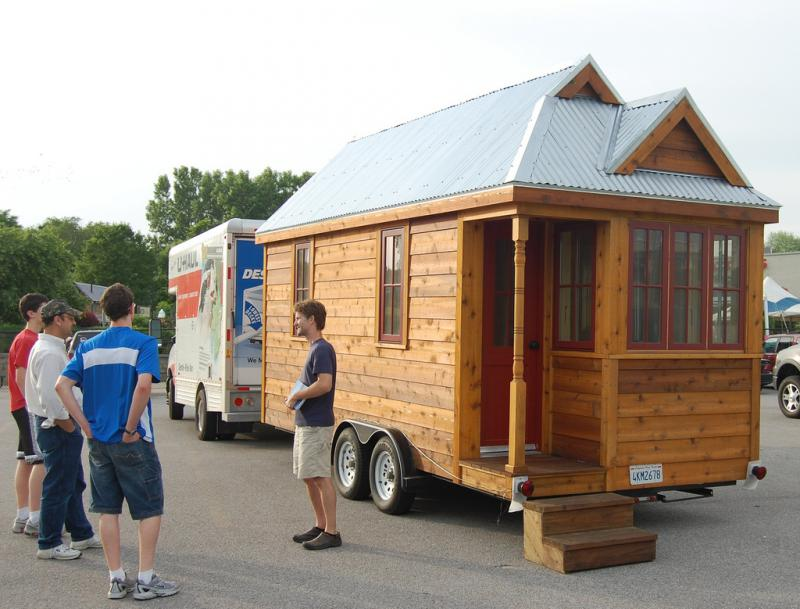Tiny homes are easy to transport and cost efficient to build.