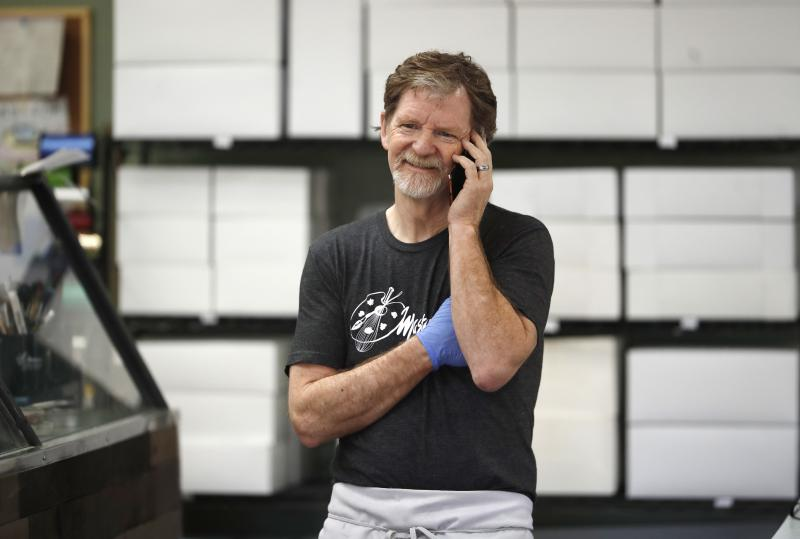 Baker Jack Phillips, owner of Masterpiece Cakeshop in Lakewood, Colo., after the U.S. Supreme Court ruled he could refuse to make a wedding cake for a same-sex couple because his religious beliefs did not violate Colorado's anti-discrimination law.