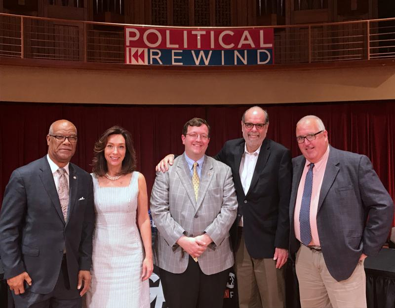 From left to right: Calvin Smyre, Teresa Tomlinson, Josh McKoon, Bill Nigut, and Chuck Williams.