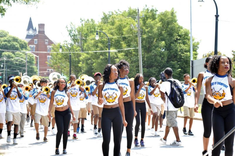 The parade started at Morris Brown College and ended at Mozley Park in Atlanta.