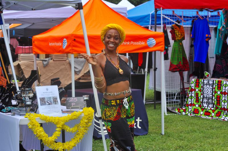 Hand-made jewelry and clothing was sold by African-American business owners at the festival.