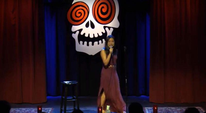 On Second Thought intern Monique Bandong performs stand-up comedy at the Laughing Skull in Atlanta.