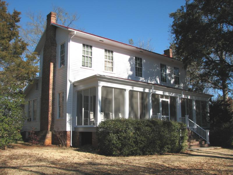 Andalusia is the farm home of Flannery O' Connor located in Milledgeville, GA.