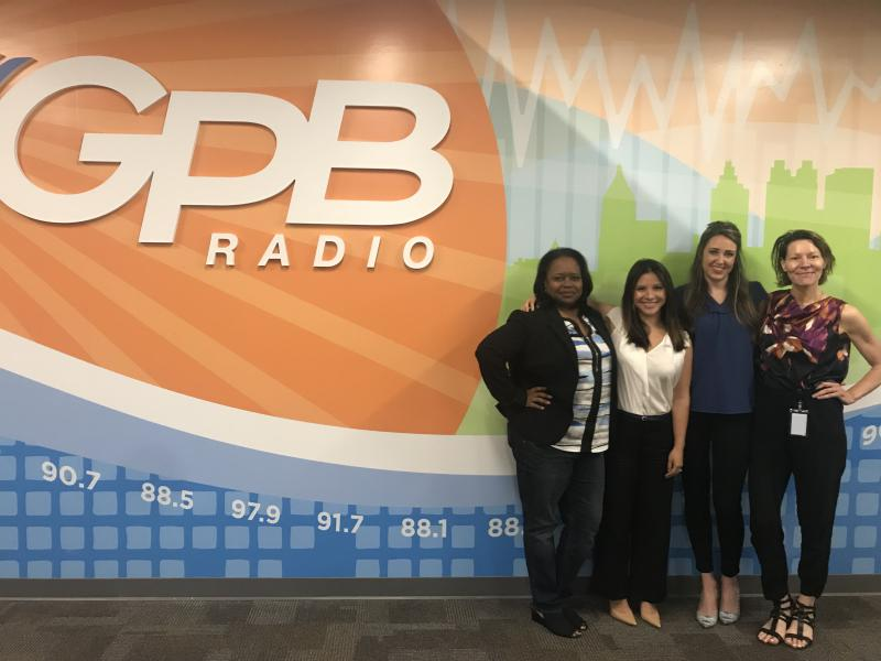 Tarra Jackson, Helen Ngo, Madi Gilroy and On Second Thought host Virginia Prescott talked women and finance at GPB in Atlanta.