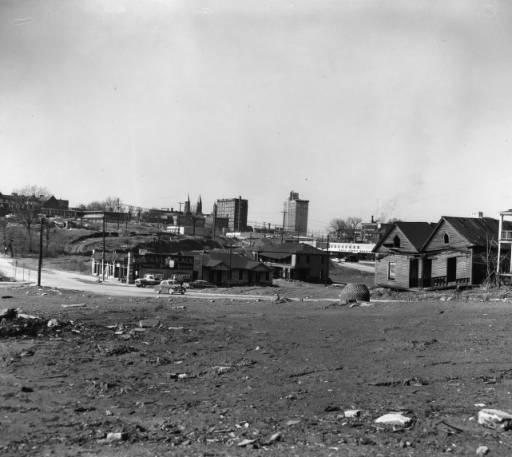 View of Buttermilk Bottoms, an African-American neighborhood, Atlanta, Georgia, August 10, 1960.