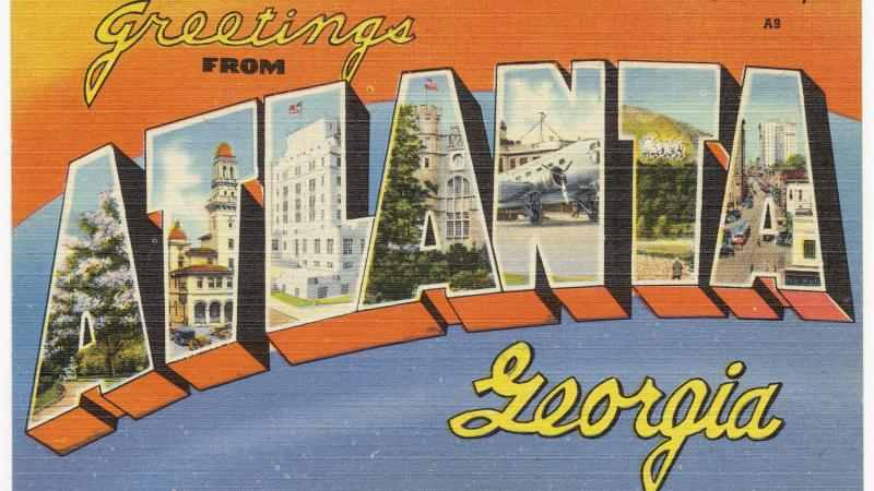 atlanta georgia city postcard