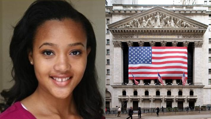 Lauren Simmons is the youngest and only full-time female stock broker at the New York Stock Exchange.