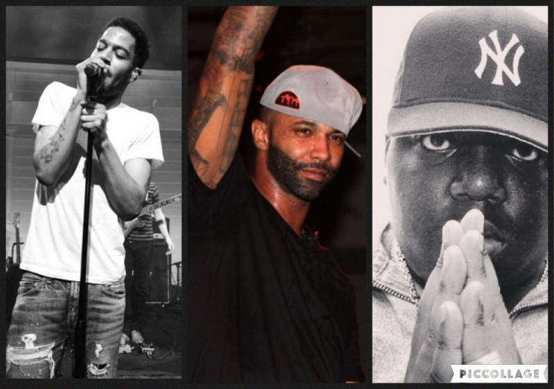 (left to right): Kid Cudi, Joe Budden, Notorious B.I.G.