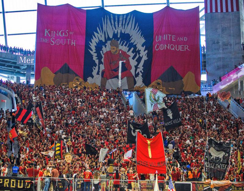 The crowd at Saturday's Atlanta United FC game exceeded that of games played that day at the World Cup.