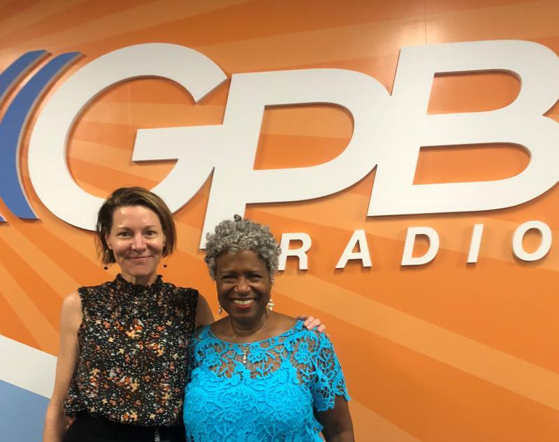Virginia Prescott (left) and Monica Pearson at the GPB Atlanta studio.