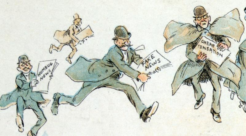 Fake news isn't a new problem, as exhibited by this illustration from 1894.