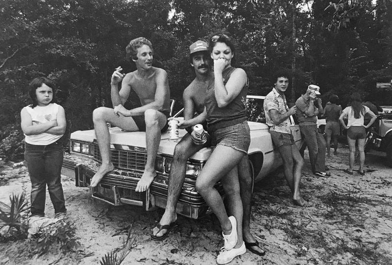 """""""Social Gathering on a Cadillac"""" is part of an exhibition of Jack Leigh's photos at Laney Contemporary through Sept. 5."""