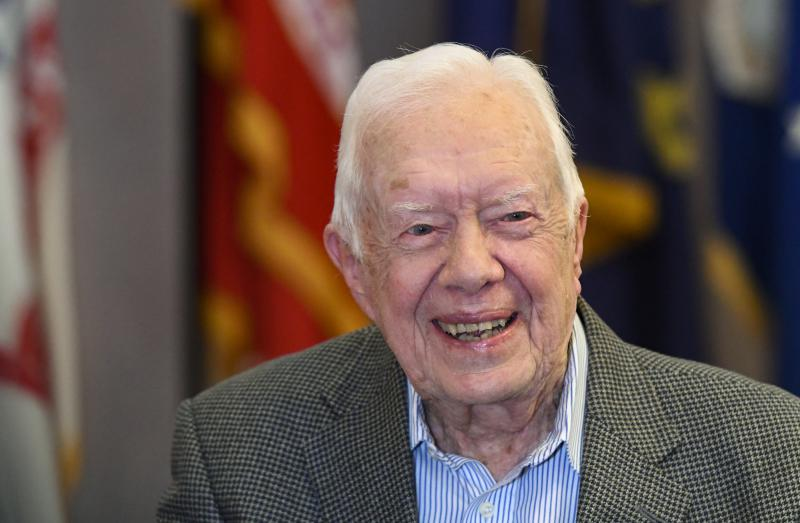 On Tuesday, Aug. 14, 2018, Former President Jimmy Carter, 93, announced he is backing Democrat Stacey Abrams in the race for Georgia governor, becoming the third U.S. president to weigh in.