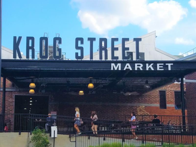 The entrance to Krog Street Market