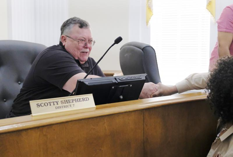 """Macon-Bibb County Commission Member Scotty Shepherd changed his no to a yes Thursday, breaking a months long budget stalemate. """"It's a people issue with me,"""" he said."""