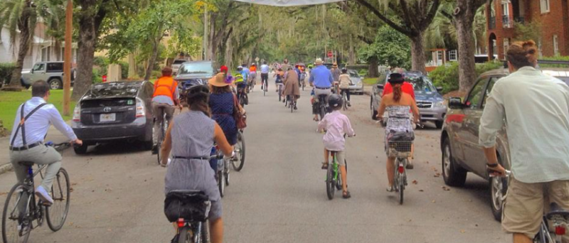 Cyclists in fancy summer garb will ride around Ardsley Park and Chatham Crescent during Saturday's Seersucker Ride