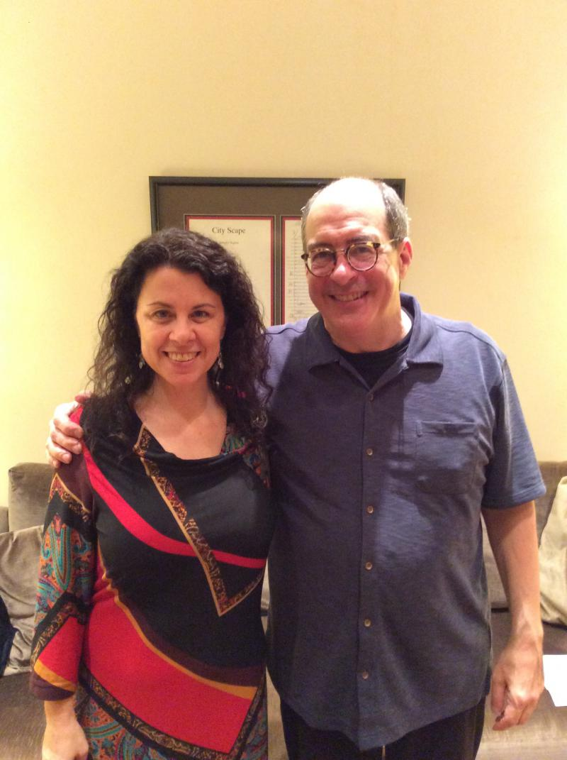 Host Sarah Zaslaw and ASO music director Robert Spano